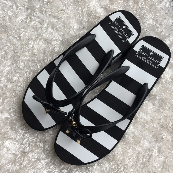 4219bc15013f kate spade Shoes - Kate Spade Rhett Striped Wedge Sandals Size 9